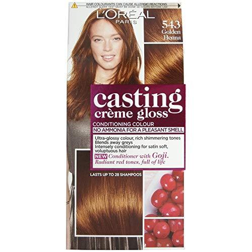 L'Oréal Casting Créme Gloss, Golden Henna 543 - Tintura per capelli, colorazione: hennè dorato
