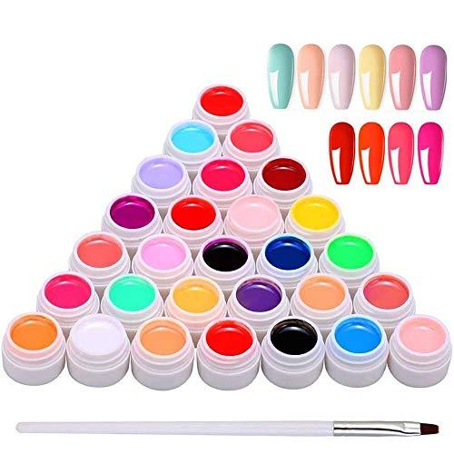 Anself 30 colori Smalti in Gel per Unghie,Gel Unghie,Kit Smalto Semipermanente per Nail Art