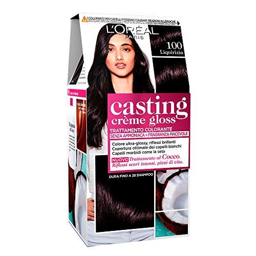 L'Oréal Paris Colorazione Capelli Casting Crème Gloss, Tinta Colore Trattamento senza Ammoniaca per una Fragranza Piacevole, 100 Liquirizia