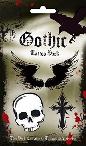 1art1 Gothic - 6 Tattoos Set Tatuaggi (17 x 10cm)