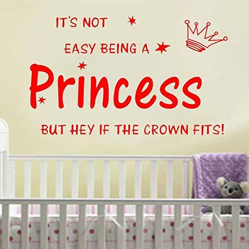 Adesivi murali per ragazze adolescenti, arte del tatuaggio da parete, corona principessa Kids Nursery Gilr fai da te 70x45 cm
