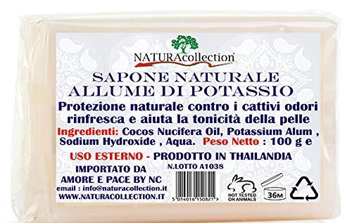 10 x Sapone Naturale all' Allume di Potassio 100 g x 10 pz = 1,00 Kg