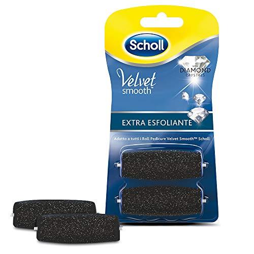 Scholl Velvet Soft Ricarica Roll per Pedicure, Extra Esfoliante, 2 Pezzi, Confezione Singola