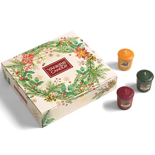 Yankee Candle confezione regalo | Candele profumate natalizie | 12 candele sampler | Collezione Magical Christmas Morning