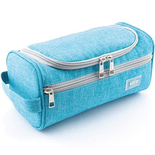 GO!elements® Beauty Case uomo & donna | borsa da toilette per uomini & donne appesi | borsa cosmetica uomo donna per valigie & bagaglio a mano | borsa da viaggio per lavaggio, Color:Turchese