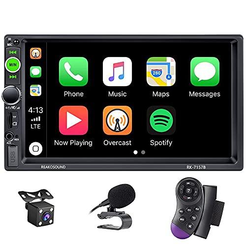 X-REAKO Car Radio 2 DIN Autoradio Car Stereo 7 pollici HD Touch Screen Bluetooth Manos Libres Radio FM/USB/AUX IN con telecamera posteriore
