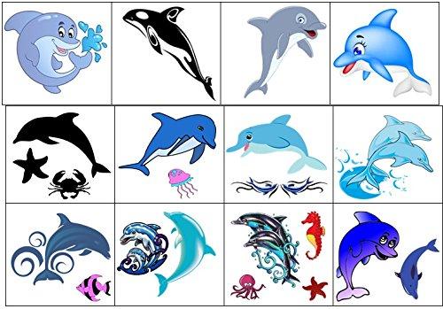 Collezione di tatuaggi temporanei Temporary Tattoos collection (Delfino Tatuaggio Dolphin Tattoo)