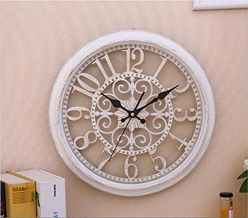 H&M orologio da parete Moderno Moderno Orologio da Parete Orologio Orologio Tranquillo Orologio da Parete Orologio Moda Semplice Salotto Cucina Ristorante Orologio Camera da Letto, Bianca