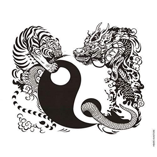 Tatuaggio Temporaneo - Tatuaggio Yin & Yang