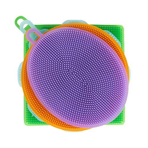 Spugna da cucina in silicone, multiuso, antibatterica e riutilizzabile, ideale per cucina e bagno