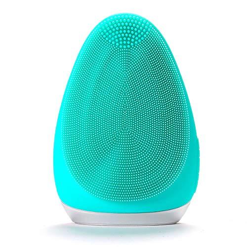 Spazzola Pulizia Massaggio Viso Silicone Ultra Soft, Pulizia Profonda dei Pori, Esfoliante Delicato, Impermeabile IPX 7, USB Sonic, Per Tutti i Tipi di Pelle, 3677 touch points. (TIFFANY BLUE)