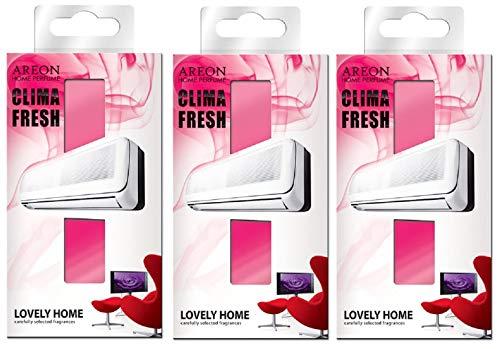 Areon Clima Deodorante Ambiente Bella Casa Ambiente Filtri Condizionatori Profumati Rosso ( Lovely Home Set di 3 )