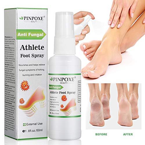 Spray piedi atleti, Deodorante antifungoso, Spray antifungo del piede, Trattamento anti-funghi per piede e tigna degli atleti