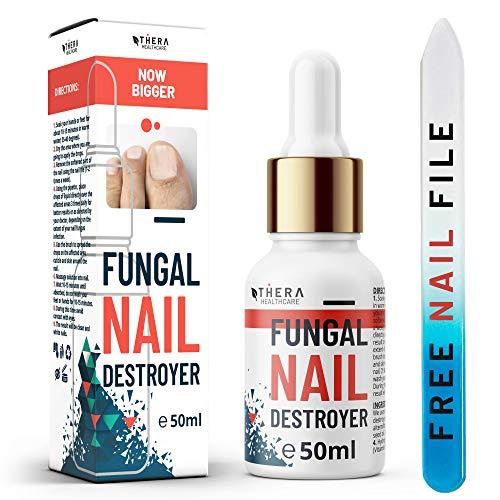 Eccellente Trattamento Anti Fungus Nail Fungal Nail Destroyer | Adatto Per Le Unghie Delle Mani E Dei Piedi | Contiene Olio Di Argan E Tea Tree Oil | 50ml | Lima Unghie E Spazzolino Gratis.