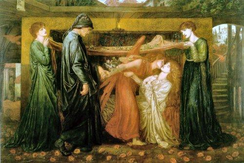 63Dante di sogno all' ora della morte di béatrice 1871Dante Gabriel Rossetti Art Print/Poster