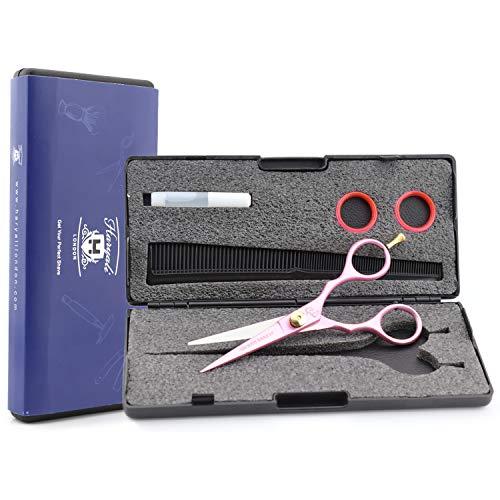 Haryali London - Forbici professionali da parrucchiere, 14 cm, colore: Rosa