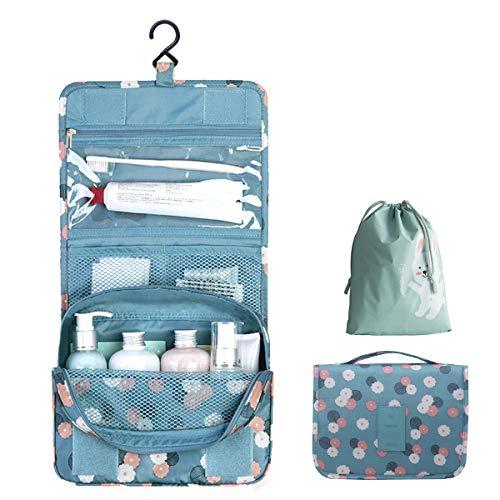 OrgaWise Borsa da toilette da viaggio Borsa da viaggio pensata da viaggio Borsa cosmetica da donna per trucco da donna con borsa con coulisse impermeabile