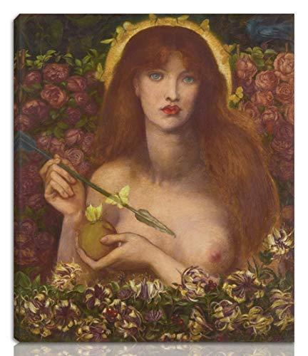 Dante Gabriel Rossetti Teso giclée Stampa su Tela-Dipinti Dipinti Belle Arti Manifesto-Riproduzione Decorazione murale Pronto da Appendere(Venus Verticordia Watercolor)#NK
