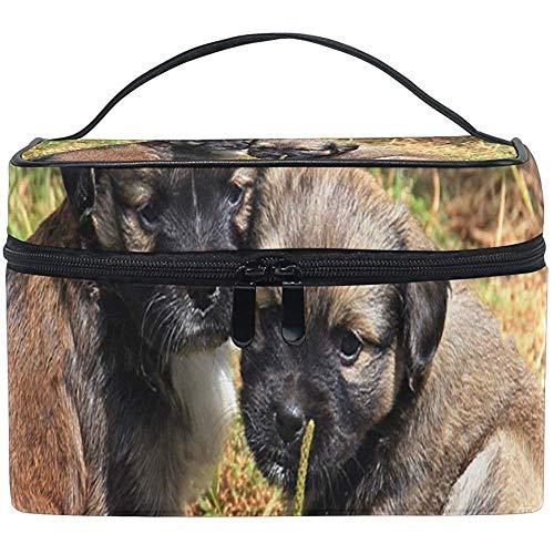 Borsa Cosmetica Twin Puppies Womens Organizer Per Trucco Girls Toiletry Case Box Lazy Bag