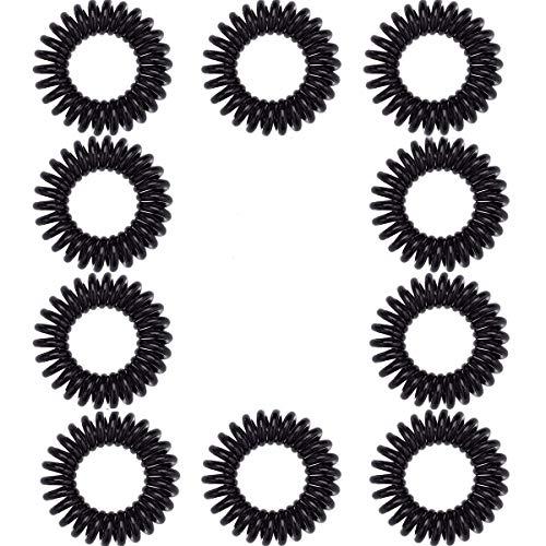 10 elastici per capelli a spirale, per coda di cavallo, per tutti i tipi di capelli