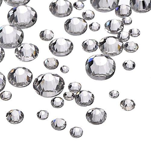 1000 Pezzi Cristallo Decorazione Cristalli Strass Rotondo 1.5 mm - 5 mm, 5 Formati