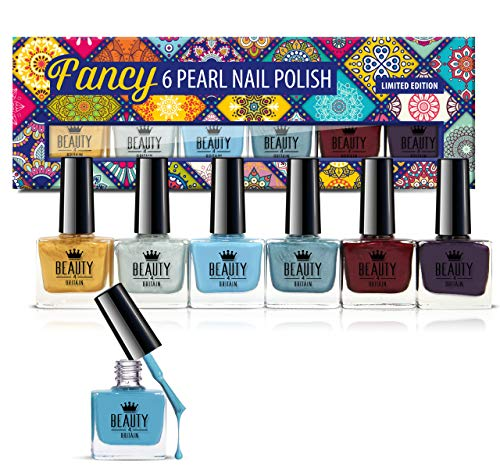 Set Fancy con 6 smalti dai colori perlati, confezione regalo di alta qualità