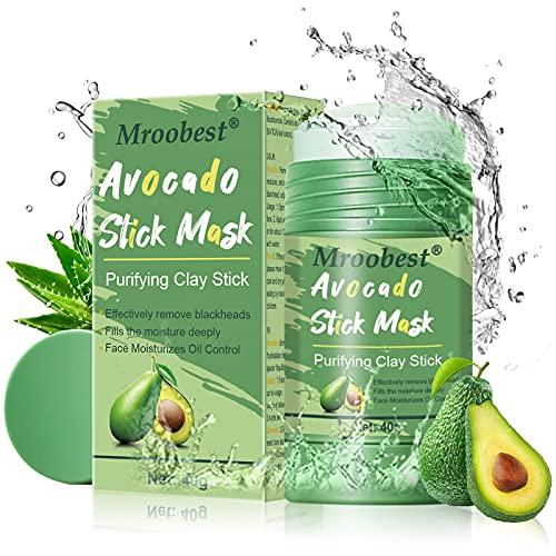 Green Stick Mask, Maschera Detergente, Maschera Viso Pulizia, Maschera Fine Solida Per rimuove efficacemente l'acne, Ridurre Pori, Purifica la pelle, Migliora la secchezza e la tenuta della pelle