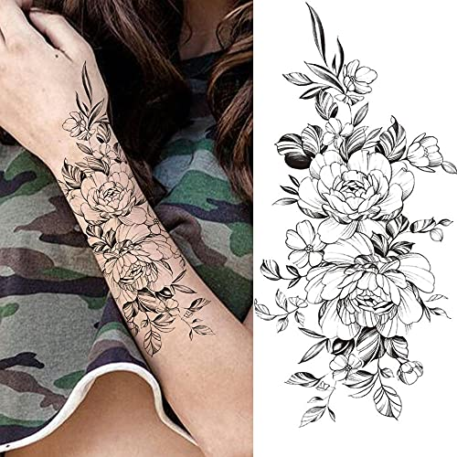 Tatuaggi Temporanei 3 Fogli Unica Lettera Inglese Tatuaggi Temporanei per Uomini Donne Bambini Versi Sanscrito ECG Tatuaggio Realistico Fai da Te Amore Credere Falso Tatoo Picture 9