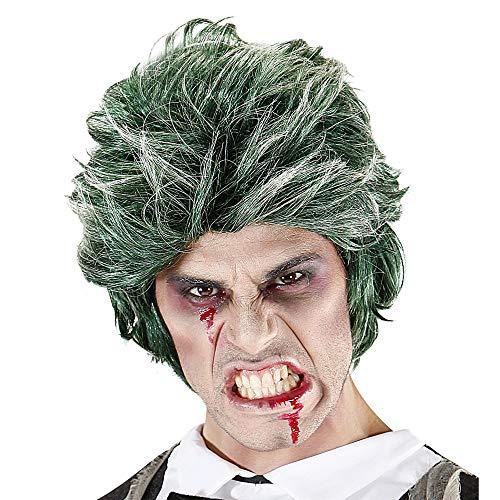 Widmann VD-WDM06741 Parrucca Uomo Zombie in Sacchetto, Verde, Taglia Unica