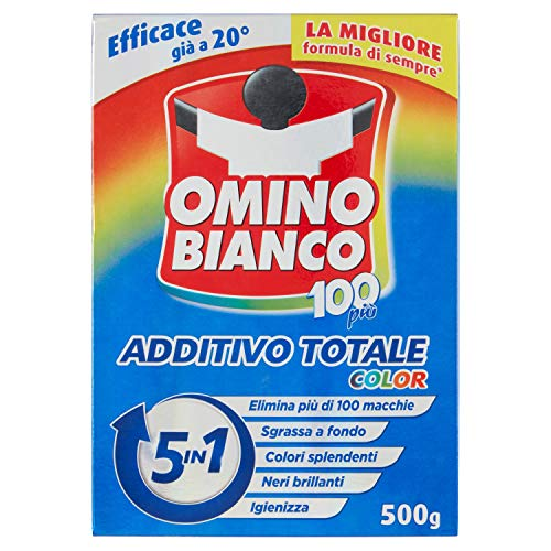 Omino Bianco - Additivo Lavatrice Totale Color 5 in 1, in Polvere, 1 Confezione x 500 g