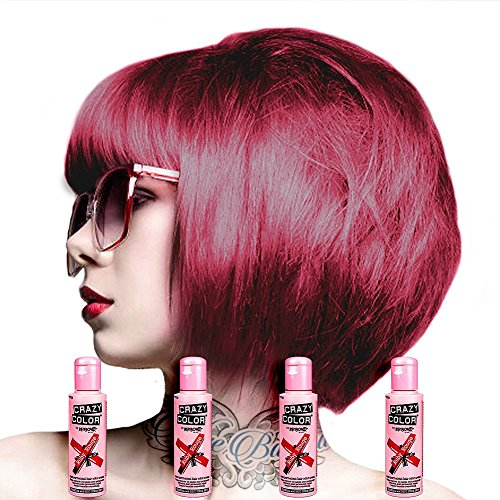 4 x Crazy Colour Ruby Rouge by Renbow by Crazy Color