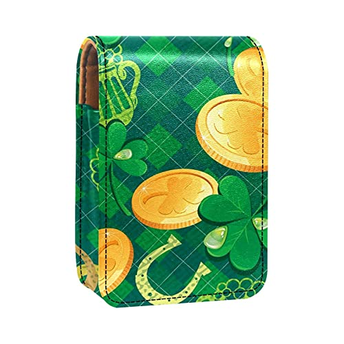 Portatile da viaggio Organizzatore di rossetti,birra verde monete d'oro ferro di cavallo