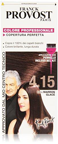 Franck Provost Colorazione Permanente Capelli, Tinta Copertura Ottima, Colore Professionale, 4.15 Marron Glacé