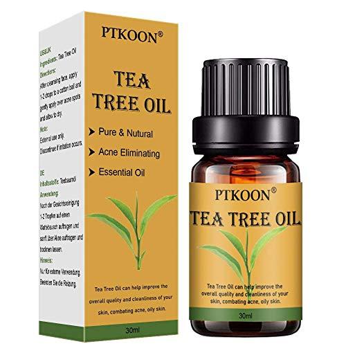Olio essenziale di tea tree, Olio di Albero del Tè, Naturale Olio Essenziale Tea Tree per Alleviare Imperfezioni della Pelle con Acne, Brufoli, Olio di Albero del Tè per Diffusori