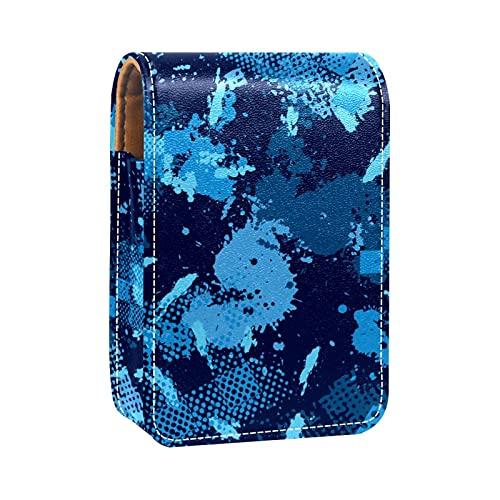Camo Blu Militare Stampe Porta rossetto Mini porta rossetto Borsa organizer con specchio per borsetta Custodia cosmetica da viaggio