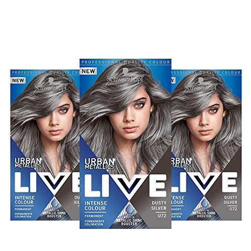 Schwarzkopf Live U72 - Confezione da 3 pezzi, colore: Argento