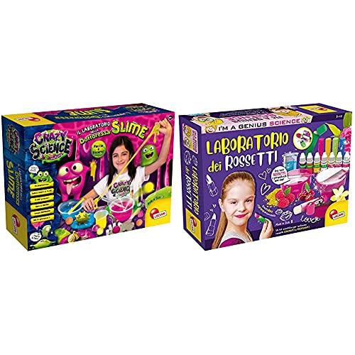 Liscianigiochi- Crazy Science Laboratorio della Dottoressa Slime, Multicolore, 75102 & - I'm A Genius Gioco per Bambini Laboratorio dei Rossetti, 66872, 8 - 12 Anni