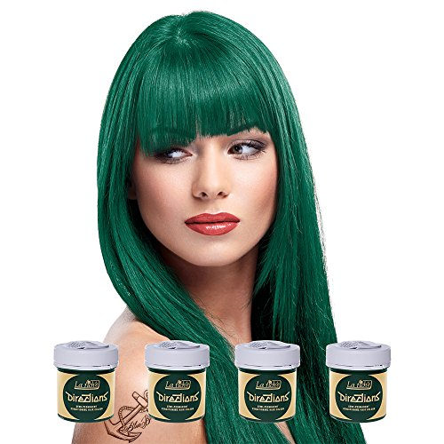 La Riche Directions Semi Permanent Alpine Green Hair Colour Dye x 4