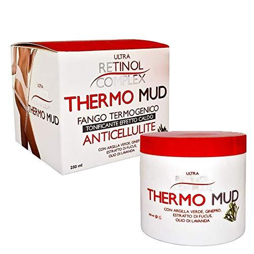 Thermo Mud - fango termo attivo anticellulite termogenico tonificante effetto caldo con a base di Terra di Fuller Argilla Verde, Olio di Argan, Ginepro, Fucus, Edera e Lavanda - 323