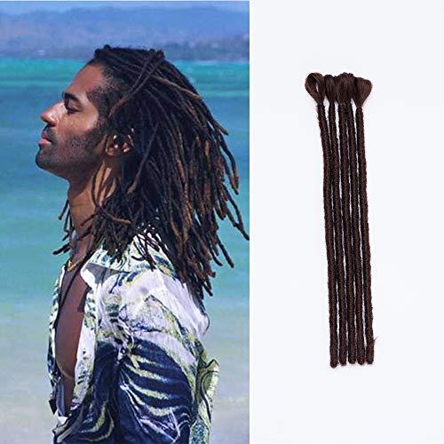 SEGO Dreadlock Extension Treccine 5 Pezzi Rasta Dread 30cm Uomo Donna Trecce Capelli Corti Sintetici Treccia Braiding Braids Hair Uncinetto # Marrone Cioccolato
