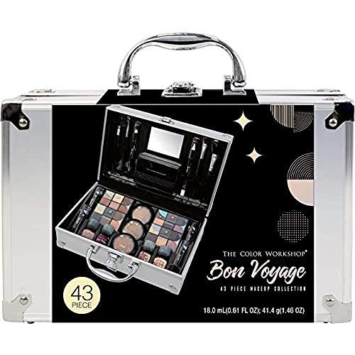 Markwins The Color Workshop - Valigetta Trucchi Bon Voyage Makeup Set - Valigetta Con Specchio E Kit Trucchi Professionali Completo - Set Trucchi Per Un Makeup Giorno E Sera - 910 g