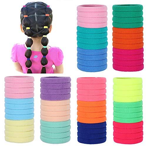 72 pezzi di fasce per capelli, morbide bobine di capelli elastici cravatte per capelli per donna bambini portabicchieri colorati in cotone, diametro 3,5