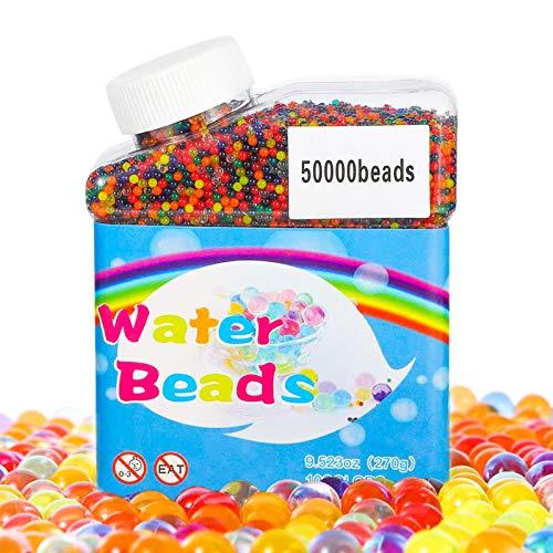 TBST - Perline per acqua, 50.000 perline colorate per bambini, non tossiche, gel per acqua del suolo, giocattoli antistress, perline di cristallo, per vasi di acqua per decorazioni domestiche