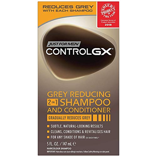 3x Just for Men Control GX Grey Reducing 2 in 1 Shampoo & Conditioner