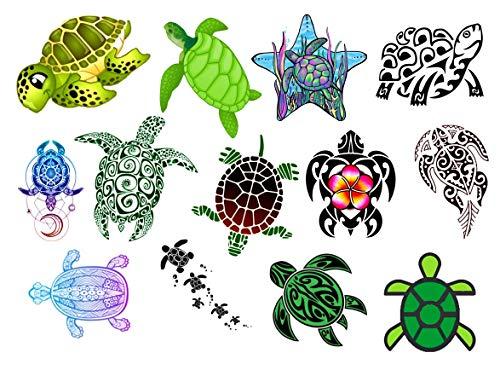 Collezione di tatuaggi temporanei Temporary Tattoos collection (Tatuaggio Tartaruga Turtle Tortoise Tattoo)