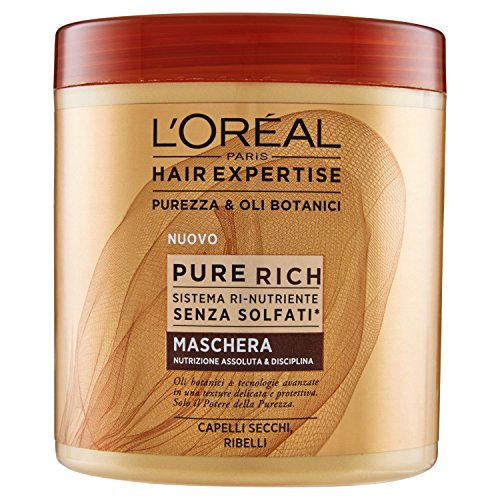 L'Oréal Paris Hair Expertise Ultra Rich Maschera Nutrizione Intensa per Capelli Secchi, 200 ml