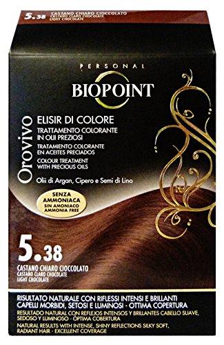 Biopoint Orovivo Tinta per Capelli (Tono Castano chiaro Cioccolato 5.38) - 30 ml.