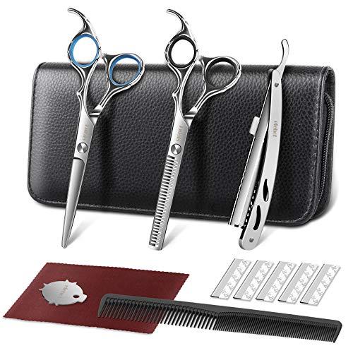Forbici Parrucchiere Kit Professionale 6 Pollici per Parrucchiere Forbici per Sfoltire i Capelli da 17.2cm di ELEHOT