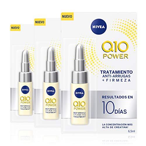 NIVEA - Nivea Q10 Power Anti rughe profonde + cura intensiva di 10 giorni per rassodare e per una pelle dall'aspetto più giovane, cura antirughe, confezione da 3 (3 x 6,5 ml)