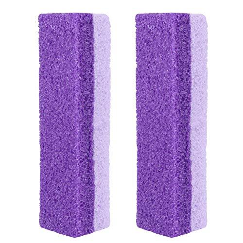 Healifty, 2 pezzi di pietra pomice per pedicure e rimozione calli, strumento per rimuovere la pelle dura morta (viola)
